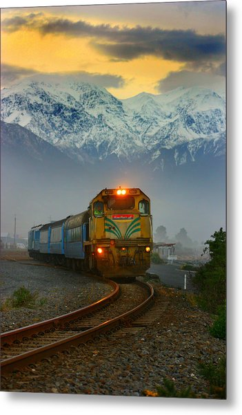 The Southerner Train New Zealand Metal Print
