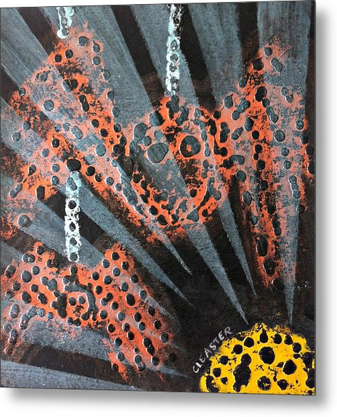 The Spider And The Sun Son Metal Print