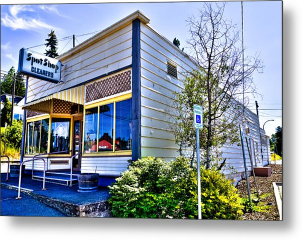 The Spot Shop Cleaners - Pullman Washington Metal Print