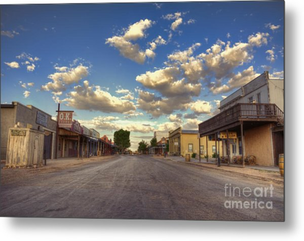 The Sreets Of Tombstone Metal Print