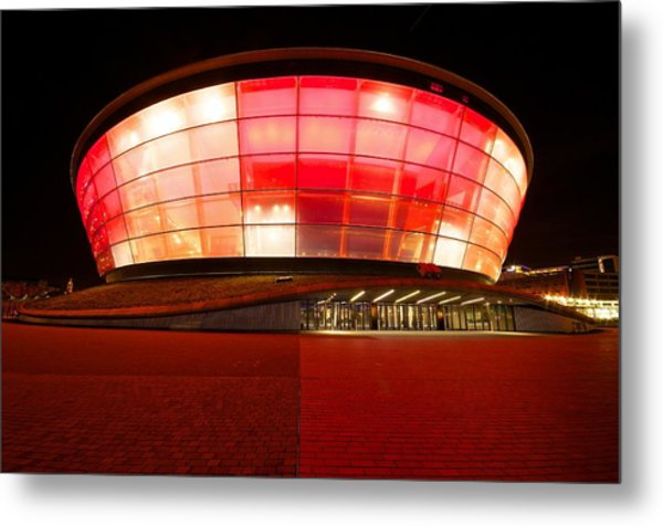 The Sse Hydro In Red Metal Print