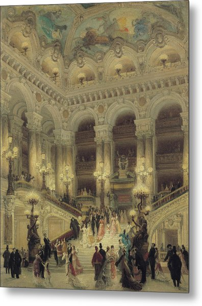 The Staircase Of The Opera Metal Print