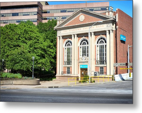 The Stamford Savings Bank Metal Print
