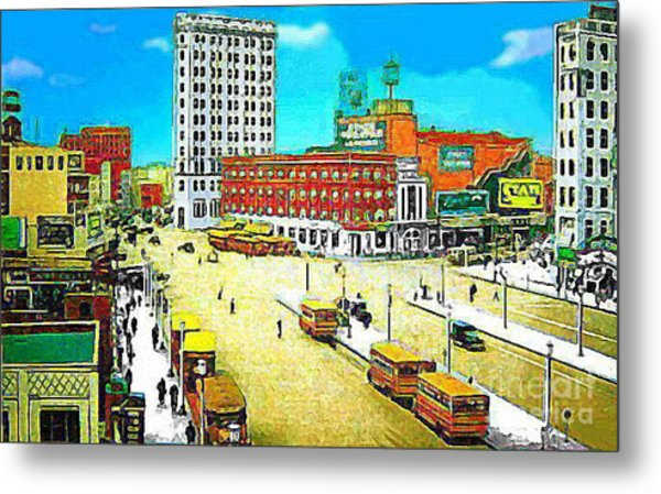 The State Theatre On Journal Sq. In Jersey City N J In 1930. Metal Print