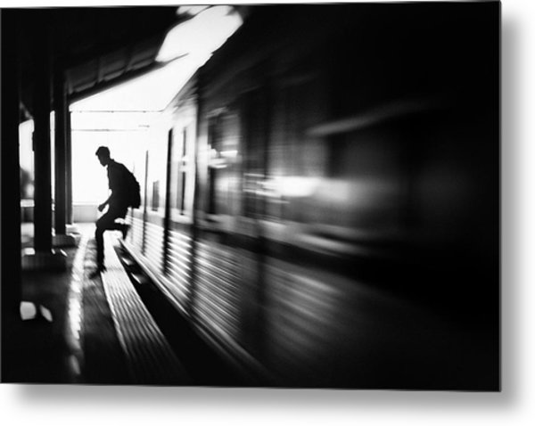 @the Station: Rush Arrival Metal Print