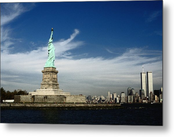 The Statue Of Liberty Standing Tall On Metal Print