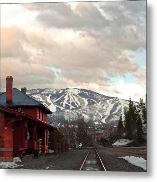The Steamboat Depot Metal Print