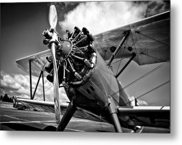 The Stearman Biplane Metal Print