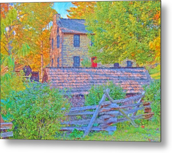 The Stone House At The Oliver Miller Homestead / Late Afternoon  Metal Print