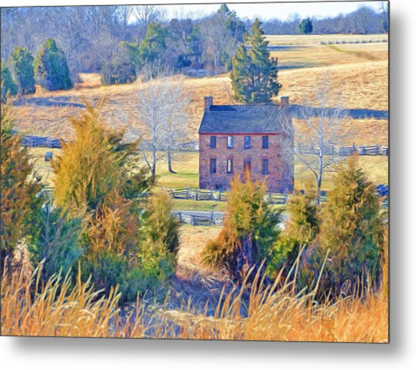 The Stone House / Manassas National Battlefield Park In Winter Metal Print