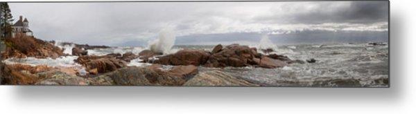 The Stormy Sea Metal Print