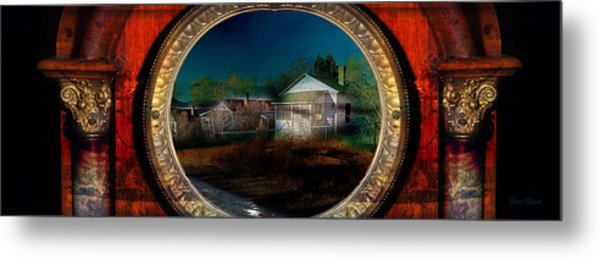 The Street On The River Metal Print