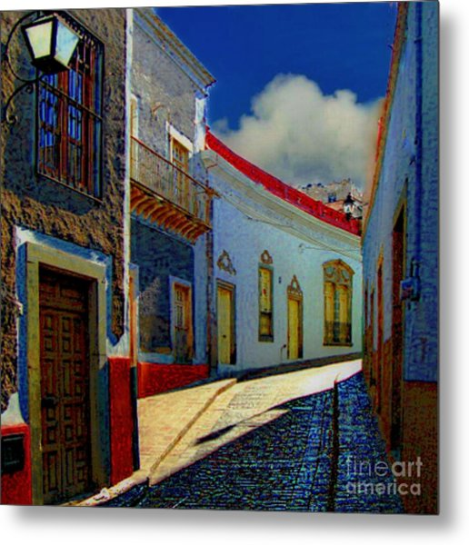 The Street To Diego Rivera's Parents House Metal Print
