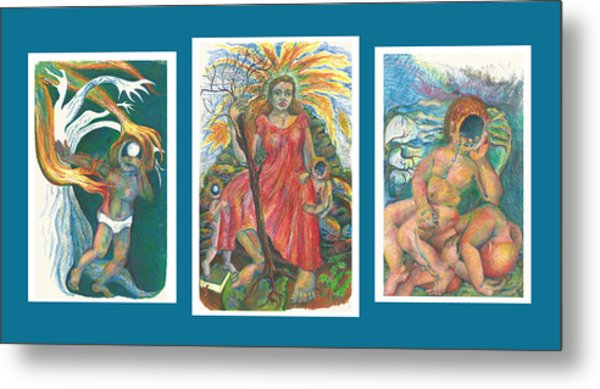 The Strength Tryptic Metal Print