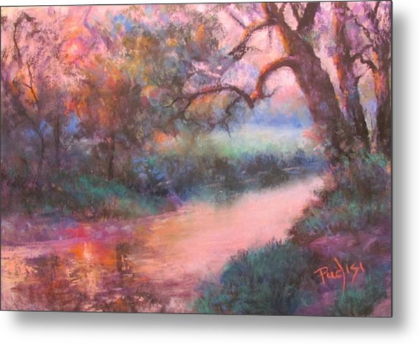 The Sun Going Down On Cocalico Creek Metal Print