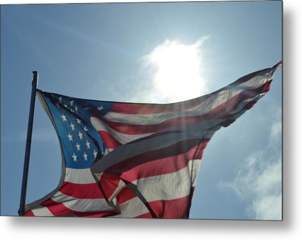The Sun Of America Metal Print by Sheldon Blackwell