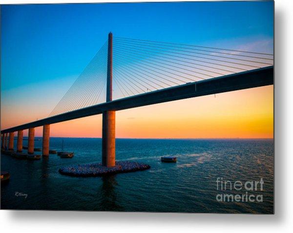 The Sunshine Under The Sunshine Skyway Bridge Metal Print
