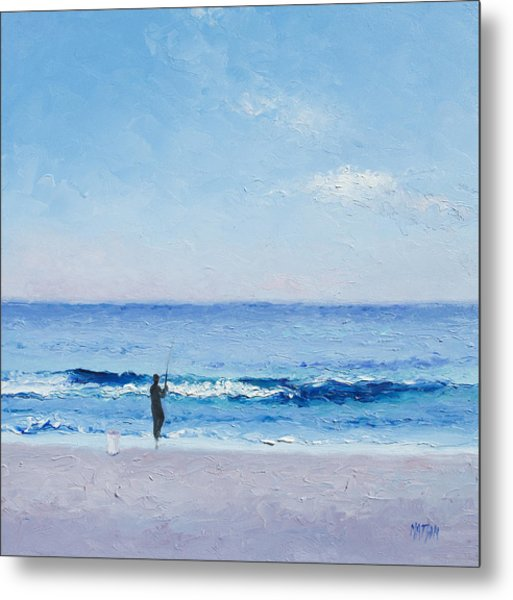 The Surf Fisherman Metal Print