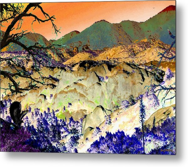 The Surreal Desert Metal Print