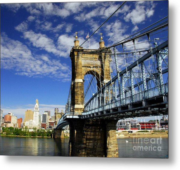 Metal Print featuring the photograph The Suspension Bridge by Mel Steinhauer