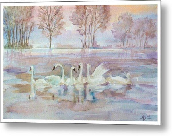 The Swan Lake Metal Print