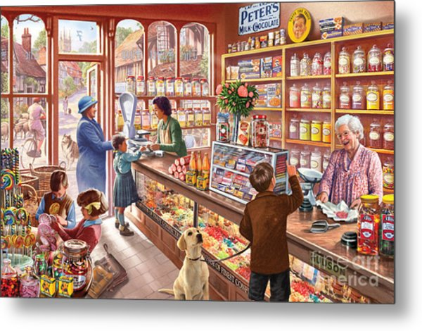The Sweetshop Metal Print