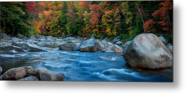 The Swift River Of New Hampshire-an Autumn Grand Landscape Metal Print by Expressive Landscapes Nature Photography