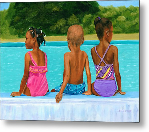 The Swim Lesson Metal Print