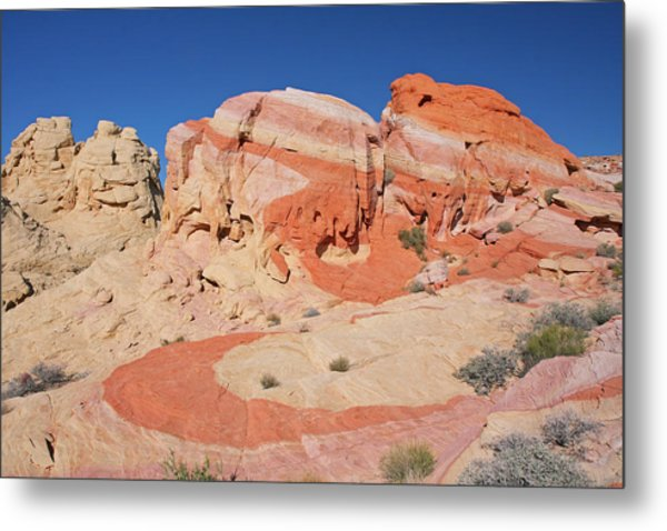 The Swoosh At The Valley Of Fire Metal Print