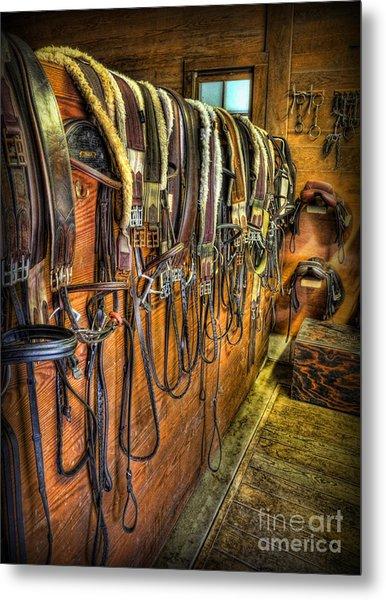 The Tack Room - Equestrian Metal Print
