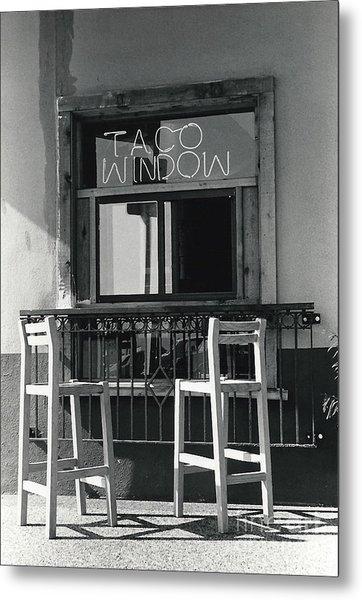The Taco Window Metal Print