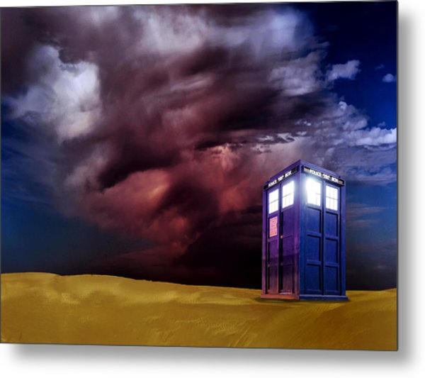 The Tardis Metal Print