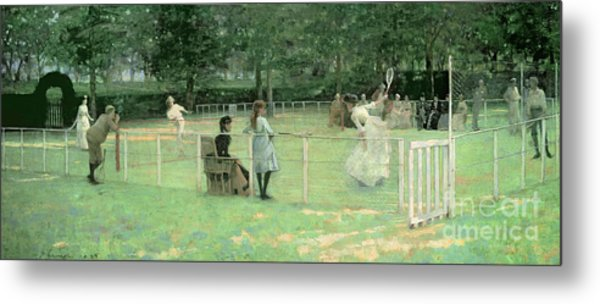 The Tennis Party Metal Print