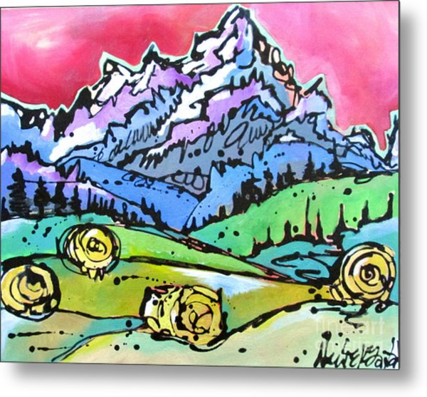 The Tetons From Walton Ranch Metal Print