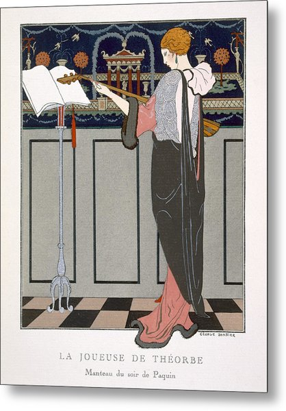 The Theorbo Player Metal Print