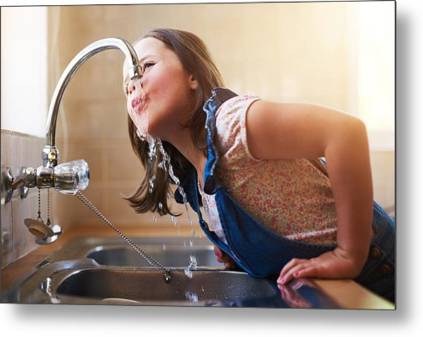 The Thirst Is Real Metal Print by PeopleImages