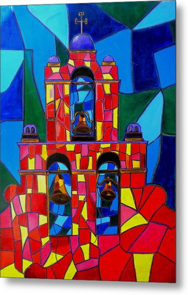 The Three Bells Of San Jose Mission Metal Print by Patti Schermerhorn