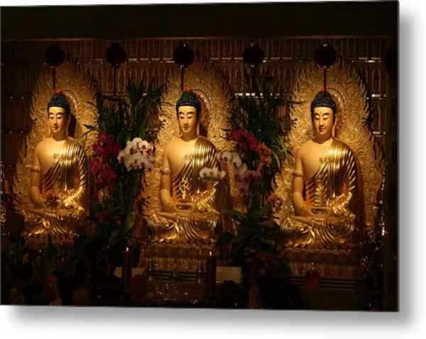 The Three Buddhas Metal Print