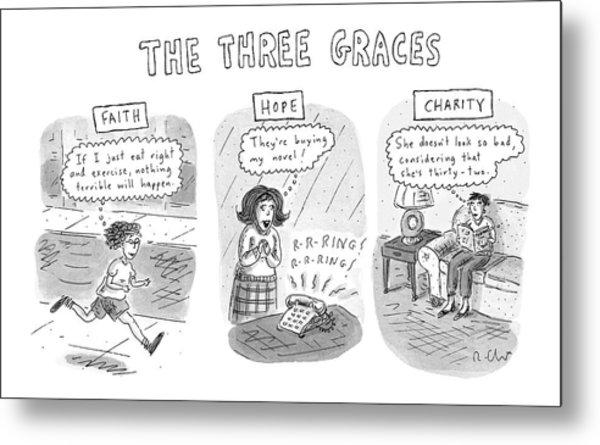 'the Three Graces' Metal Print