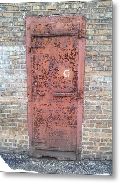 The Three Heart Door. Metal Print