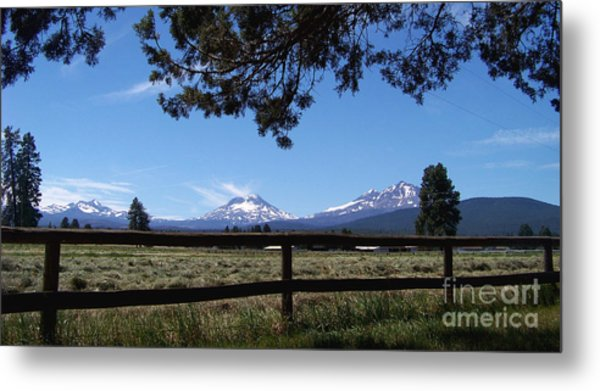 The Three Sisters Panorama Metal Print