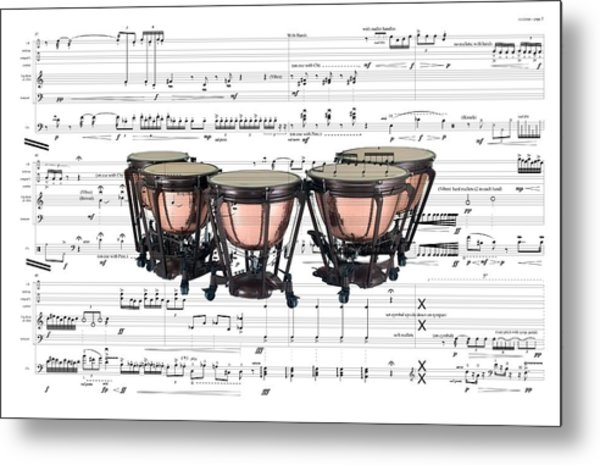 The Timpani Metal Print