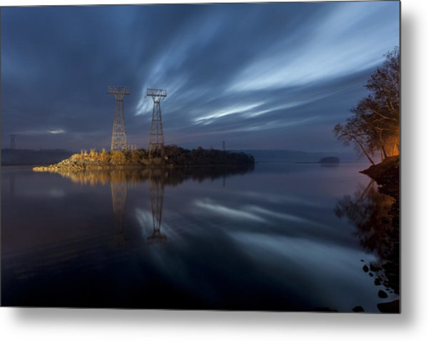 The Towers Of Power Metal Print