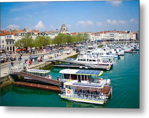 The Town And Port Of La Rochelle Metal Print