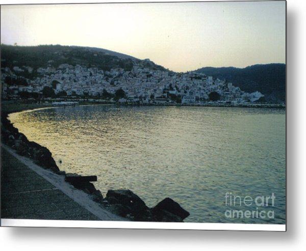 The Town Of Skopelos Metal Print by Katerina Kostaki