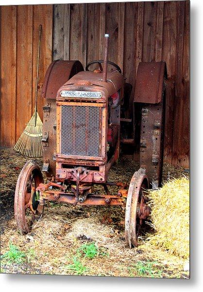 The Tractor Metal Print by John Freidenberg