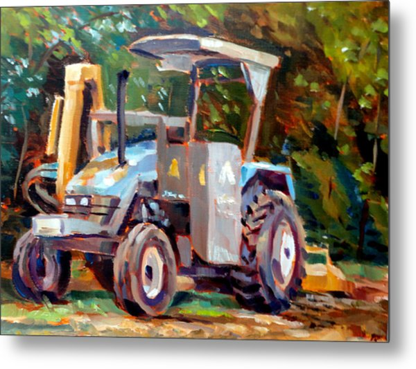 The Tractor Metal Print by Mark Hartung