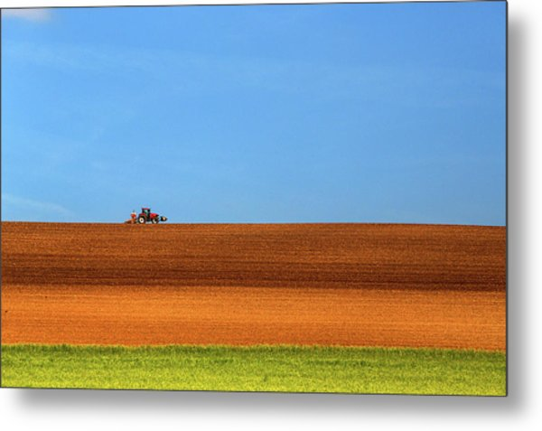 The Tractor Metal Print