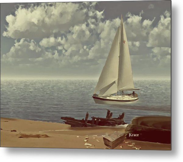 The Treasure Metal Print