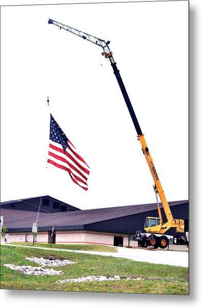 The Tribute At Half Mast Metal Print by Patricia Thebo